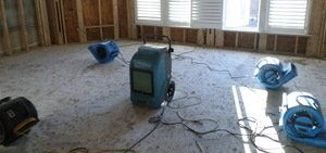Equipment At Water Damage Remediation Job