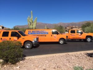 Restoration Fleet At Residential Property