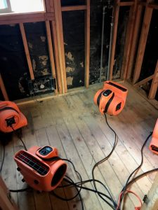 Drying Machines Used During A Water Damage Restoration Job
