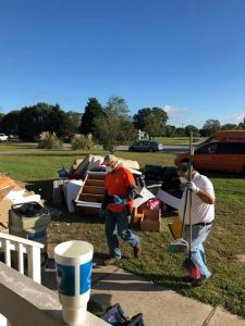 Technicians Conducting Fire Damage Restoration