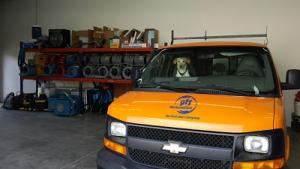 911 Restoration Mascot