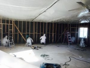 Mold Cleanup Crew At A Commercial Job Site