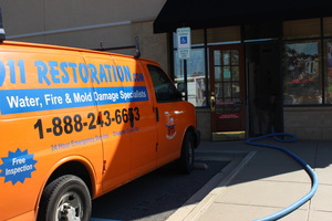 Mold Removal Team At A Commercial Job Site